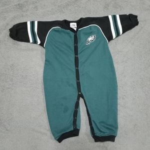 NFL Eagles one piece outfit or Pjs fleece  18 m